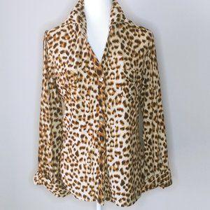 Forever 21 Leopard Print Button Down Shirt